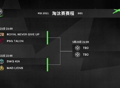 英雄联盟2021MSI淘汰赛详细 MSI淘汰赛具体的晋级安排