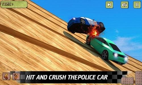 跑车撞击坠落赛