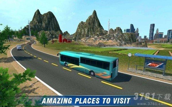 城市客车大巴3D