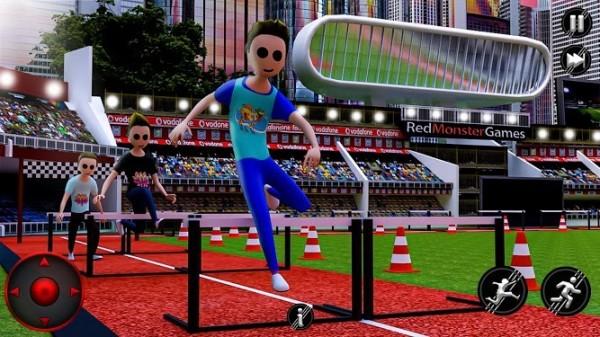 夏季田径运动滑板和篮球