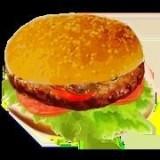 快餐店的汉堡